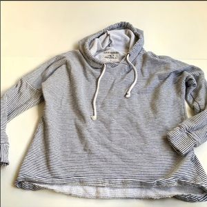 O'Neill white black striped hoodie medium